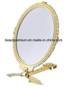 Folding Handle Mirror Single Side Mirror Golden Mirror Bat Shaped Mirror Plastic Mirror Table Mirror L′oreal Audit Mirror BPS003 pictures & photos