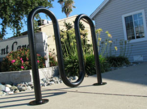 Wave Black Powder Coated Bike Stand Rack pictures & photos