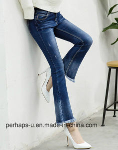 Women Fashion High End Jeans Denim Pantyhose pictures & photos