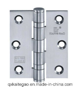 "Stainless Steel Ball Bearing Wooden Door Hinge (3""X2""X2.0mm-2BB) pictures & photos"