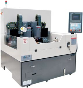 CNC Engraving Machine for Mobile Glass Processing in Precision (RZG600D_CCD)