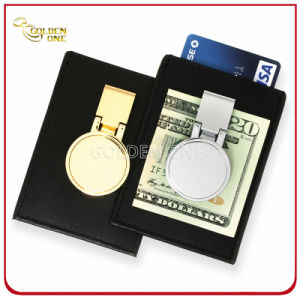 Deluxe Metal Money Clip with Leather Holder for Credit Card pictures & photos