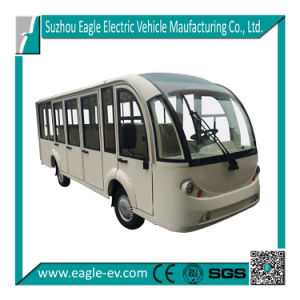 Enclosed Shuttle Bus, 14 Seats Electric Eg6158kf, 72V/7.5kw AC System, Sightseeing Car pictures & photos