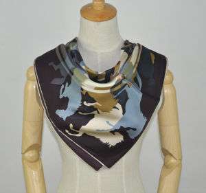 Fashion Customed Printed Silk Scarf pictures & photos