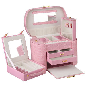 Fashion Pink Girls Leather Jewelry Case (HX-A0739-2) pictures & photos