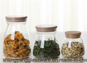 Good Quality High Borosilicate Glass Storage Jar/Candy Jar for Kitchenware pictures & photos