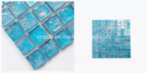 20X20mm Peakcock Blue Square Shape Glass Type Mosaic Tiles