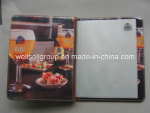 Leather Custom Fashion Restaurant Menu Cover pictures & photos