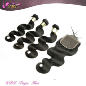 Xbl Hair Factory Virgin Lace Closure Remy Hair Extensions pictures & photos