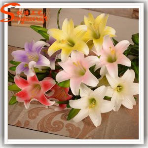 Hot Sale Home Decoration Artificial Real Touch Lily Flower pictures & photos