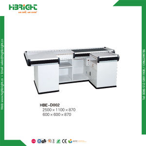 Checkout Counter Cashier Desk with Electric Belt pictures & photos