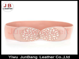 Fancy Latest New Women Wide Elastic Enamel Belt with Best Quality Buckle