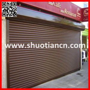 High Quality Remote Aluminum Roll up Garage Door (ST-002) pictures & photos