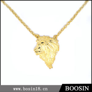Fashion Lifelike Shiny Gold Lion Necklace for Men #16120 pictures & photos