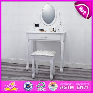 New Arrival European Luxury Wooden Make up Dressing Table with Mirror W08h014 pictures & photos