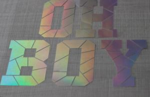 Custom Low Price Laser Cutting Heat Transfer Stickers pictures & photos