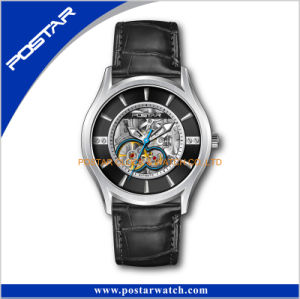 Old Fashioned Watch Luxury Brand Watch Logo Automatic Stainless Steel Watch Back pictures & photos