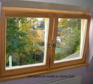 Solid Wood Aluminum Top Hung Window pictures & photos