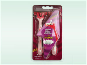Triple Blade Disposable Razor(Kd-B3008L of 2s for Lady pictures & photos