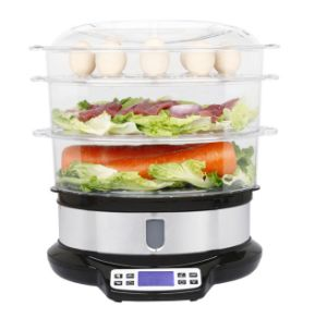 3 Layer Digital Electric Steam Cooker with Stainless Steel Housing pictures & photos