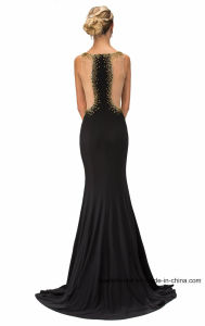 Illusion Beading Party Prom Gowns Sexy Spandex Evening Dresses G11399 pictures & photos