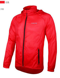 Men′s Red Polyester Outdoor Water Proof Wind Proof Rain Jacket pictures & photos