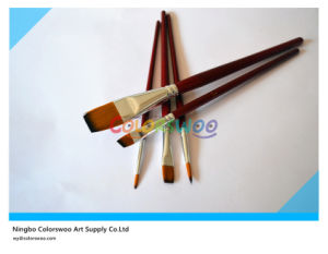 5PCS Colorful Wooden Handle Artist Brush in PVC Bag for Painting and Drawing pictures & photos
