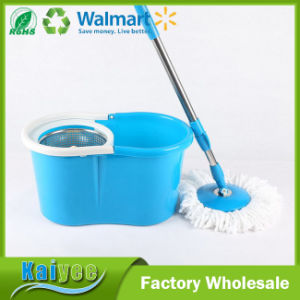 Green Round Bucket Floor Cleaning Squeeze Spin Mop pictures & photos
