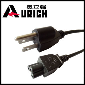110 Volt Fused Plug, Us Computer 16AWG, 105 Degree Heat Resistance Cable, Power Cord IEC C5 pictures & photos