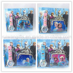 Wholesale Frozen Gifts Set Watch and Purse for Girls pictures & photos