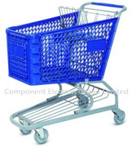 120L Plastic Shopping Cart pictures & photos