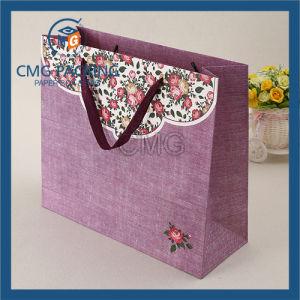 White Kraft Paper Bag Black Printing Twist Handle (DM-GPBB-023) pictures & photos