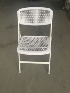 White Color Plastic Foldable Chair pictures & photos