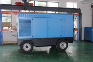 4 Wheels Diesel Engine Portable Rotary Screw Air Compressor pictures & photos