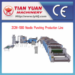 Nonwoven Needle Punched Machine Carpet Fabric Line pictures & photos