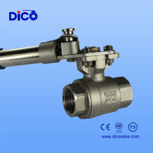Stainless Steel 2PC Ball Valve with Automatic Reset Handle pictures & photos