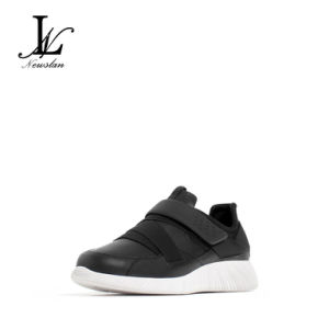 Black Health Leather Casual Shoes (CAS-030) pictures & photos