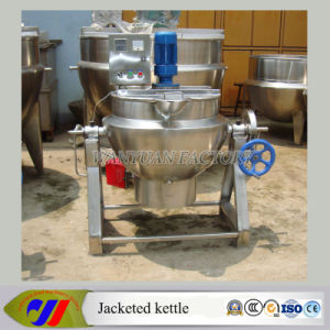 Movable Tilting Gas Heating Jacketed Boiler Jacket Kettle with Agitator pictures & photos