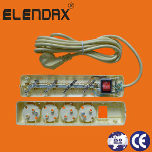 6-Way Extension Euro Socket with/Without Cord and Switchch (E5006ES) pictures & photos