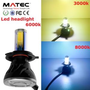 40W 4000lm Hi/Low Beam H4 LED Headlight P43t pictures & photos
