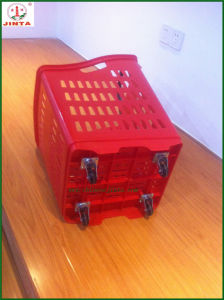 4 Wheel Rolling Basket with Single Handle pictures & photos
