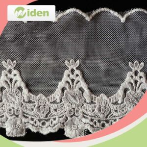 Dyeable Garment Accessories Floral Pattern Net Embroidery Trimming Lace pictures & photos
