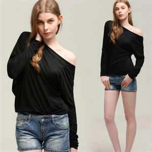 Hot Sale Fashion Batwing Sexy Women Blouse Tops (50176) pictures & photos