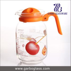 1.6L Blown Glass Jug with Fancy Design Printing pictures & photos