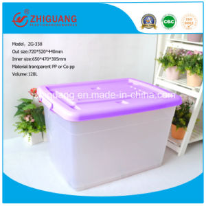 Hot Sale High Quality 120L Plastic Storage Box PP Material Heavy Duty Strong Plastic Bin with Handles and Wheels pictures & photos