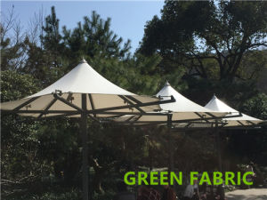 PVC Vinyl Tarpaulin for Tent 1000d 9X9 14oz Blockout Glossy pictures & photos