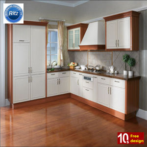 Hot Selling White Elegant PVC Kitchen Cabinet pictures & photos