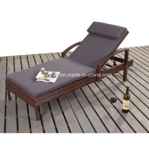 Wicker Lounger with Steel Frame 1616 pictures & photos
