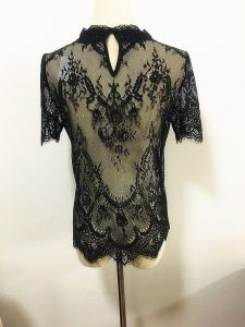 Lady Garment Short Sleeve Sexy Sawtooth Lace Fashion T-Shirts pictures & photos