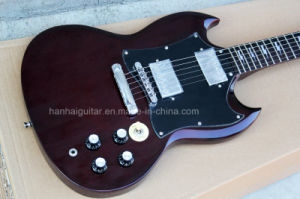 Hanhai Music / Dark Brown Sg Style Electric Guitar pictures & photos
